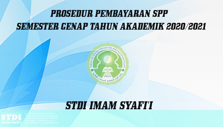 Pembayaran SPP Semester Genap 2020 – 2021