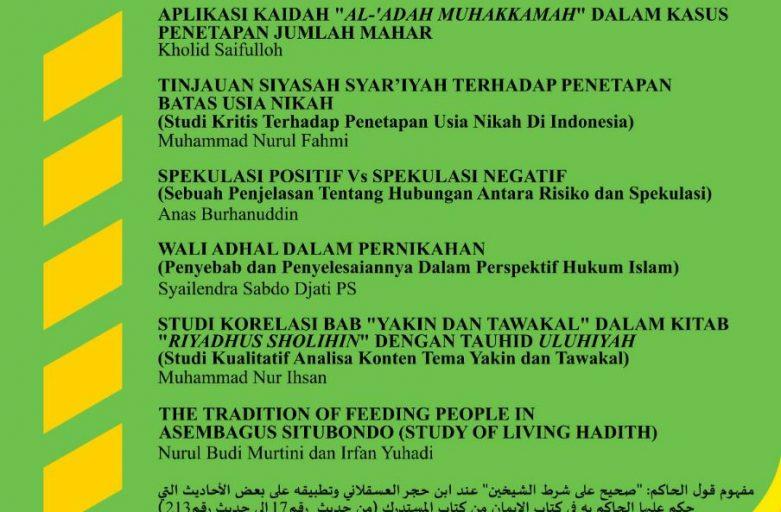 Lolos Sinta 4, Jurnal Al-Majaalis STDI Imam Syafi'i Jember Call for Paper