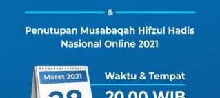Penutupan dan Pengumuman Pemenang Musabaqah Hifzul Hadis Nasional Online 2021