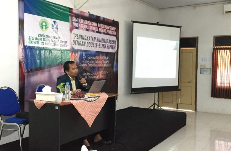 Seminar Kerjasama Perguruan Tinggi Tingkat Nasional di Bidang Penelitian: STDIIS Jember dengan UNIDA Gontor