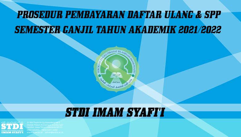 Pembayaran Daftar Ulang dan SPP Semester Ganjil 2021-2022