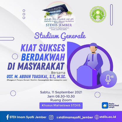 Studium Generale Tahun Akademik 2021/2022
