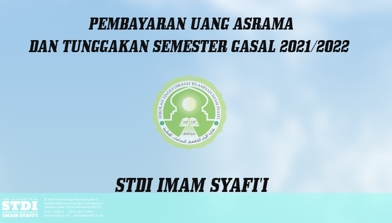 <strong>PEMBAYARAN UANG ASRAMA DAN TUNGGAKAN SEMESTER GANJIL TAHUN AKADEMIK 2021 – 2022</strong>